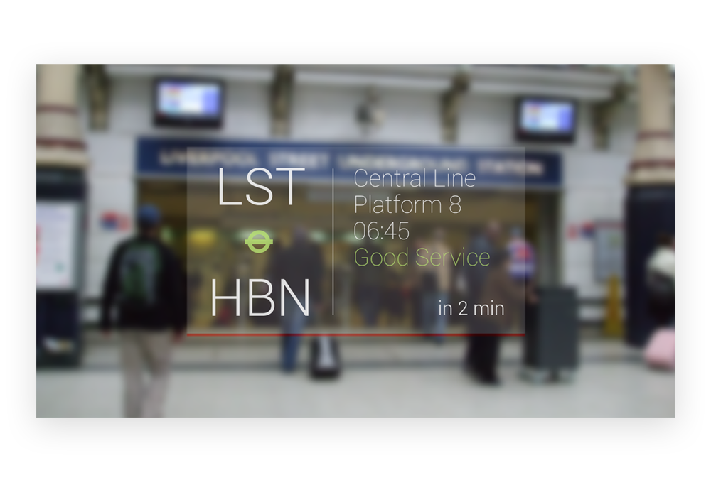 Google Glass - Central Line Directions