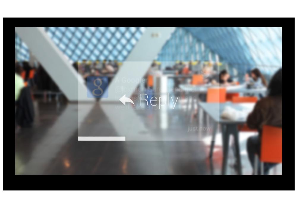 Google Glass - Twitter Reply