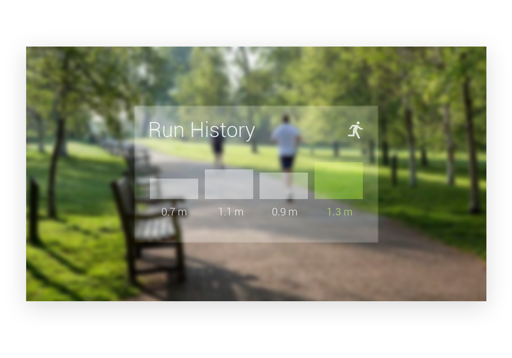 Google Glass - Run History