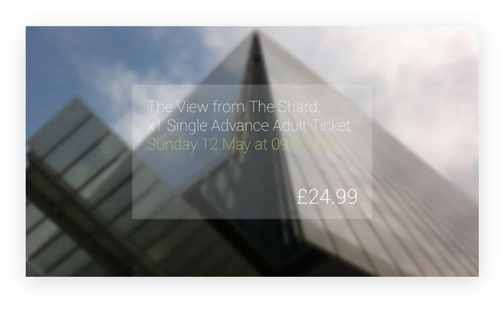 Google Glass - The Shard