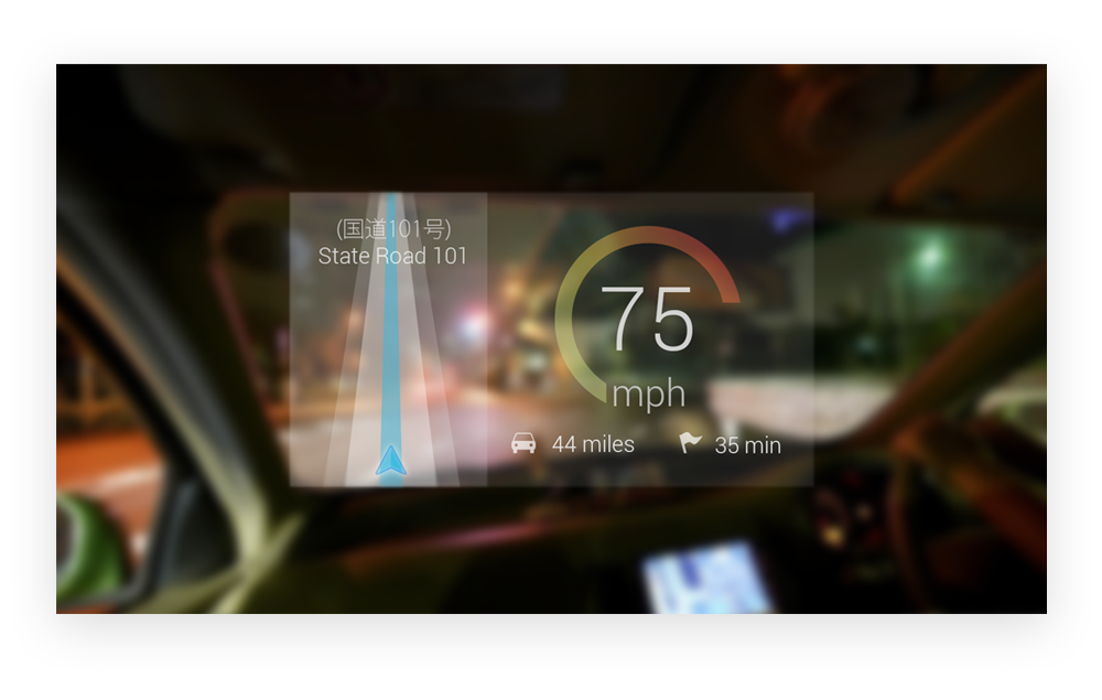 Google Glass - Speedometer