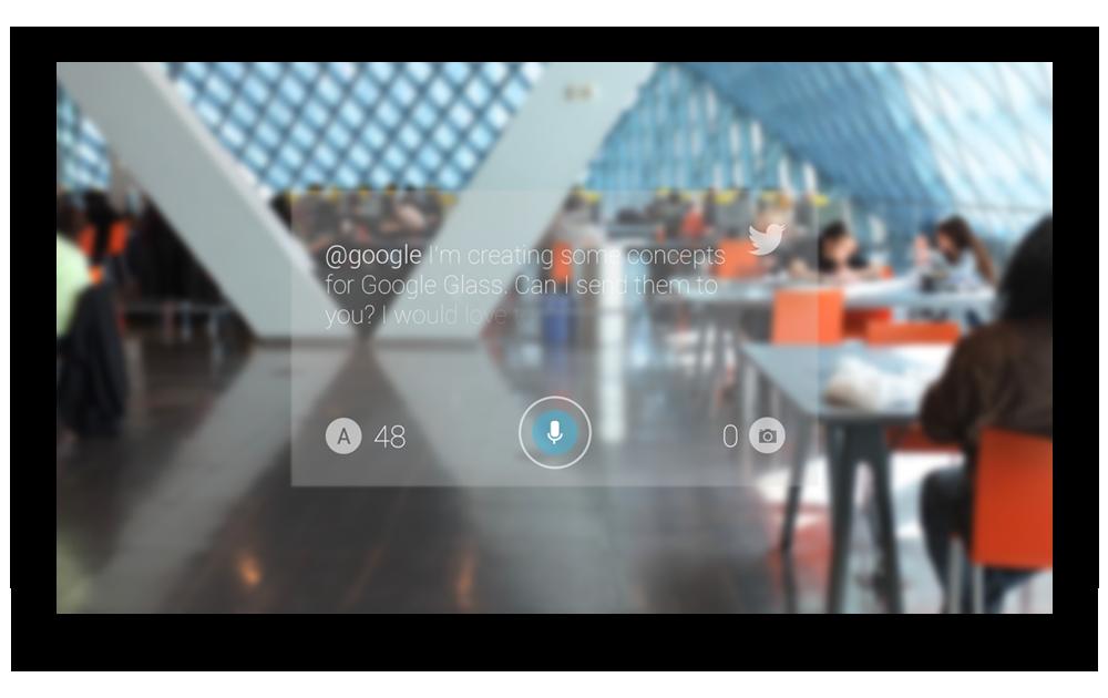 Google Glass - Twitter Tweet