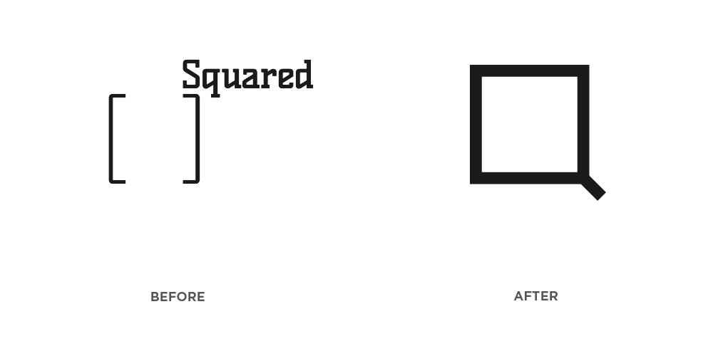 SQUARED Logo Before After