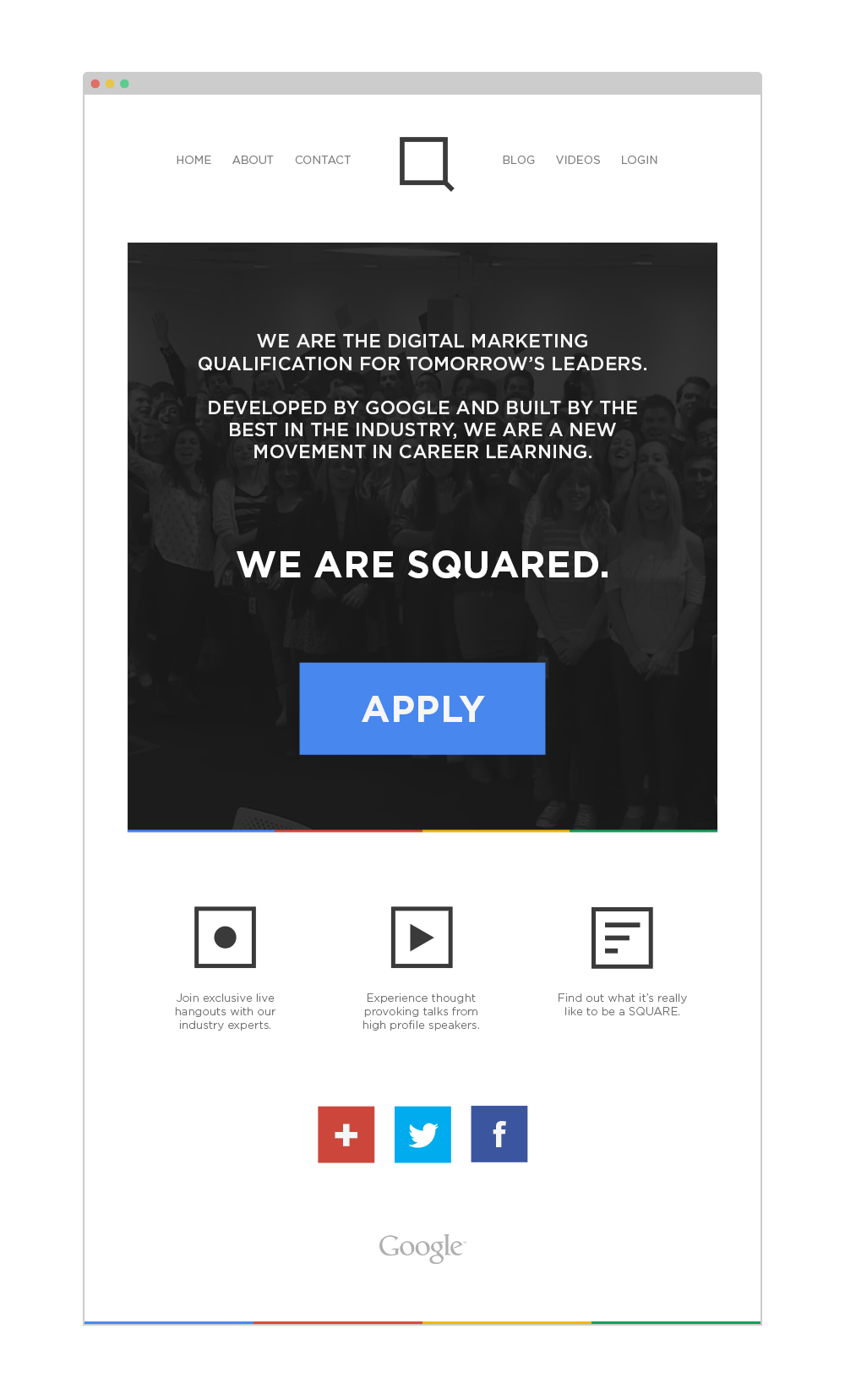 SQUARED Homepage