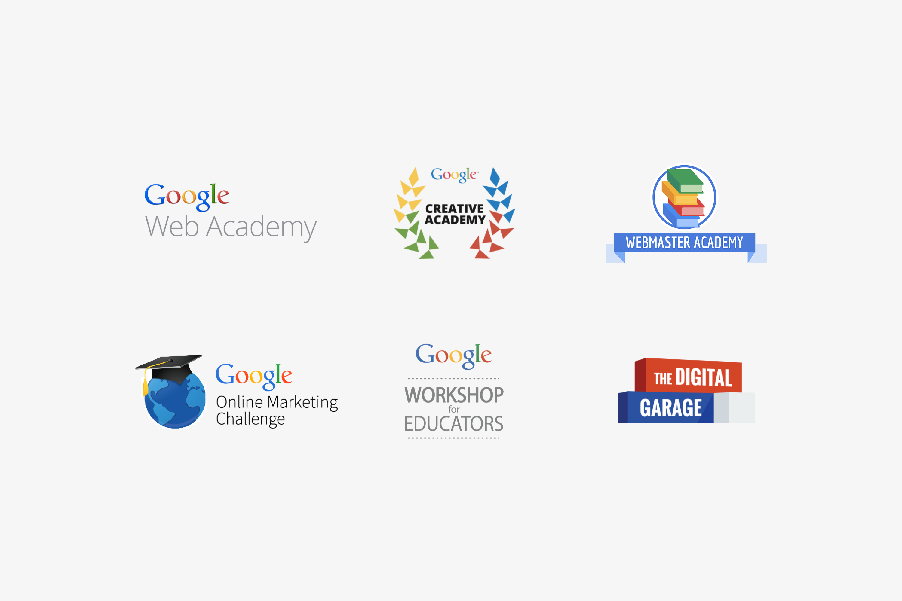 Google Digital Academy - Google Education Logos
