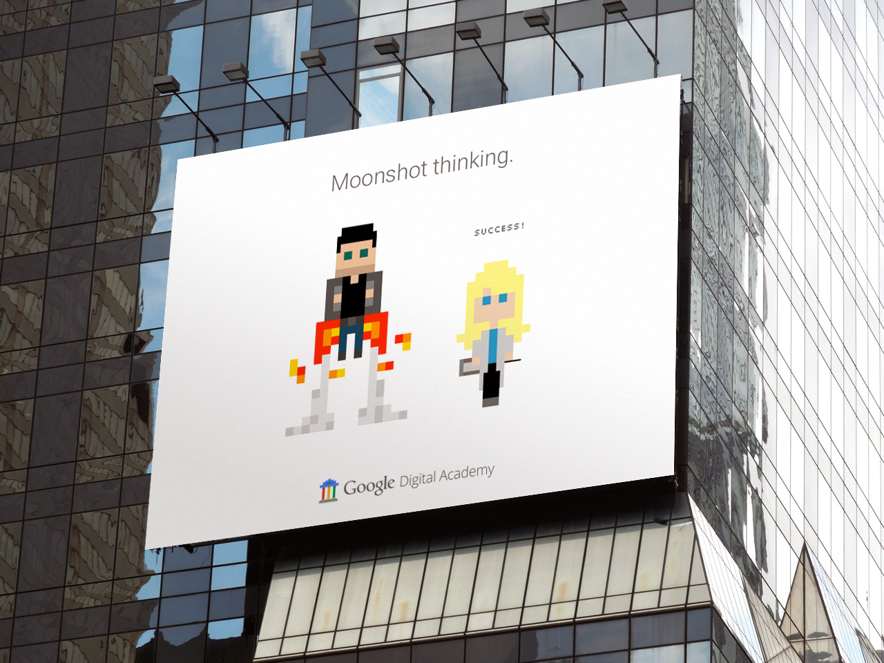 Google Digital Academy - Mascot Billboard Advertisement