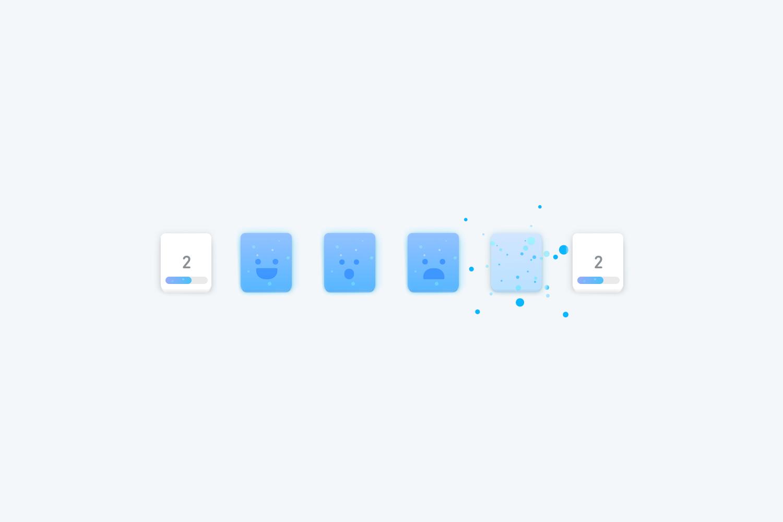 Duolingo Tinycards Facial Expression Progression Animation