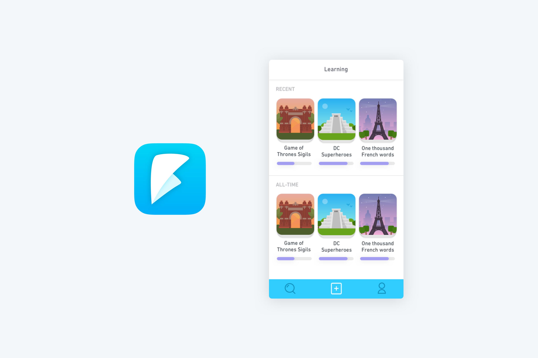Duolingo Tinycards Flips Branding Draft by Jack Morgan
