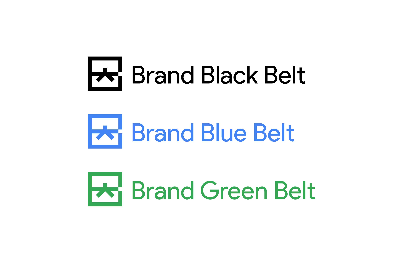 Google Brand Black Belt Belt System Logo Lockups