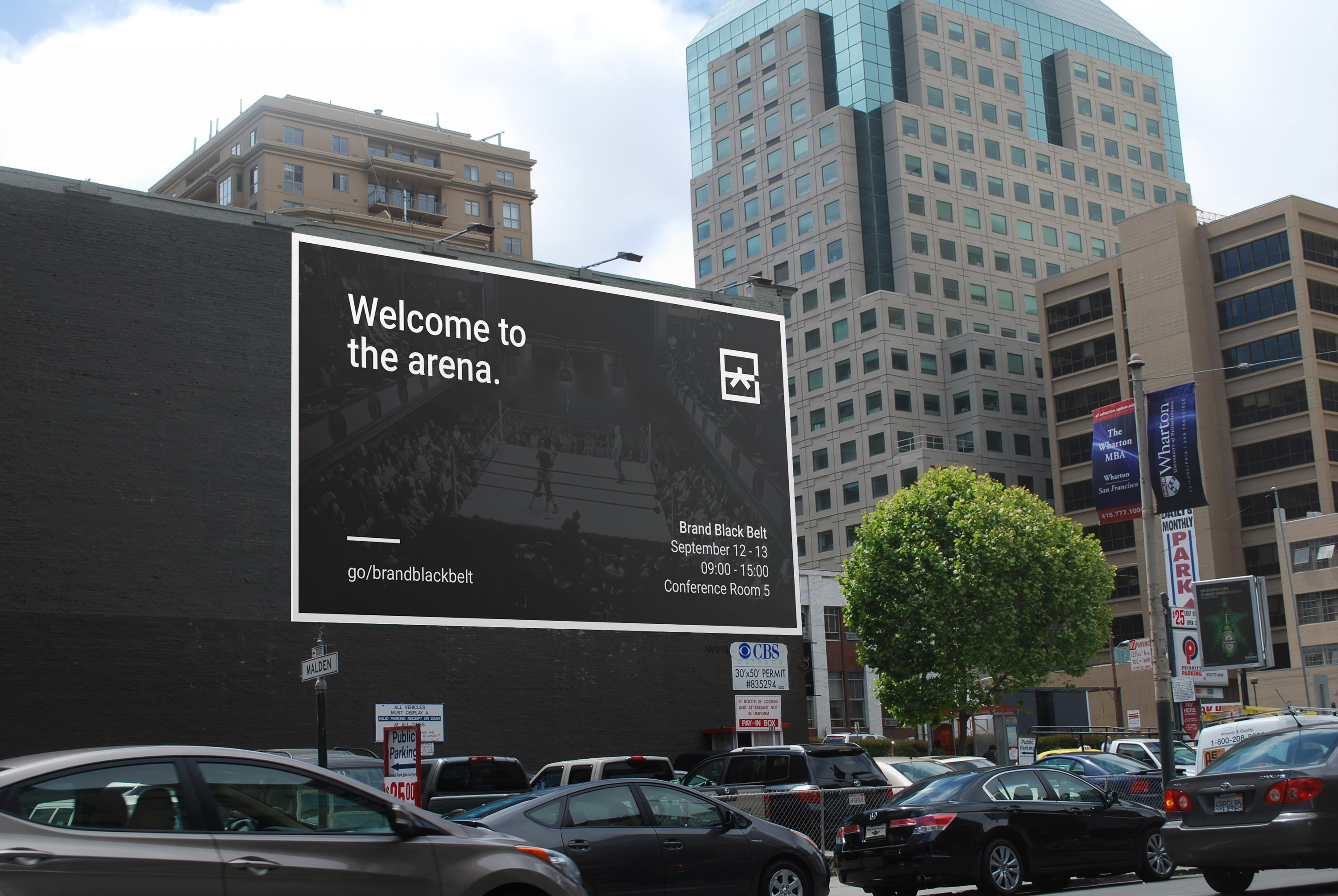 Google Brand Black Belt Billboard Advertisement