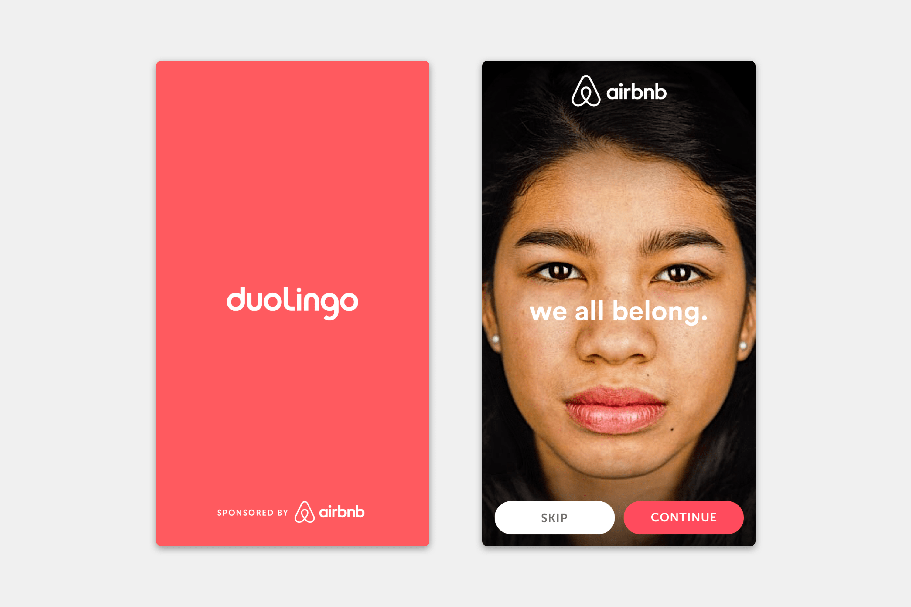 Duolingo Sponsorships - Airbnb Advertisement