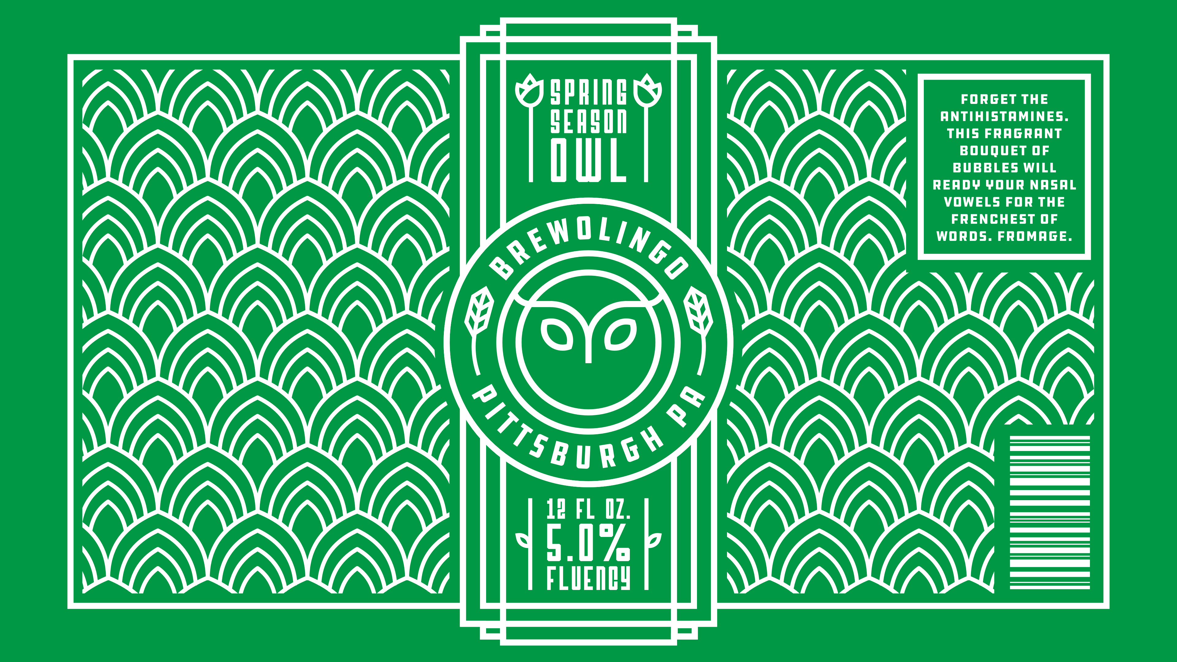 Brewolingo Spring Season Owl Branding by Jack Morgan