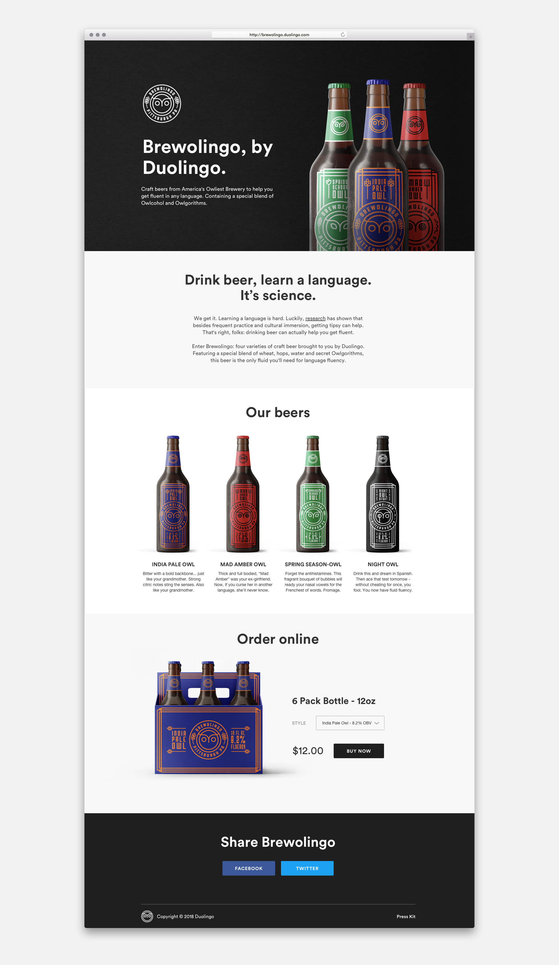Brewolingo Website by Jack Morgan