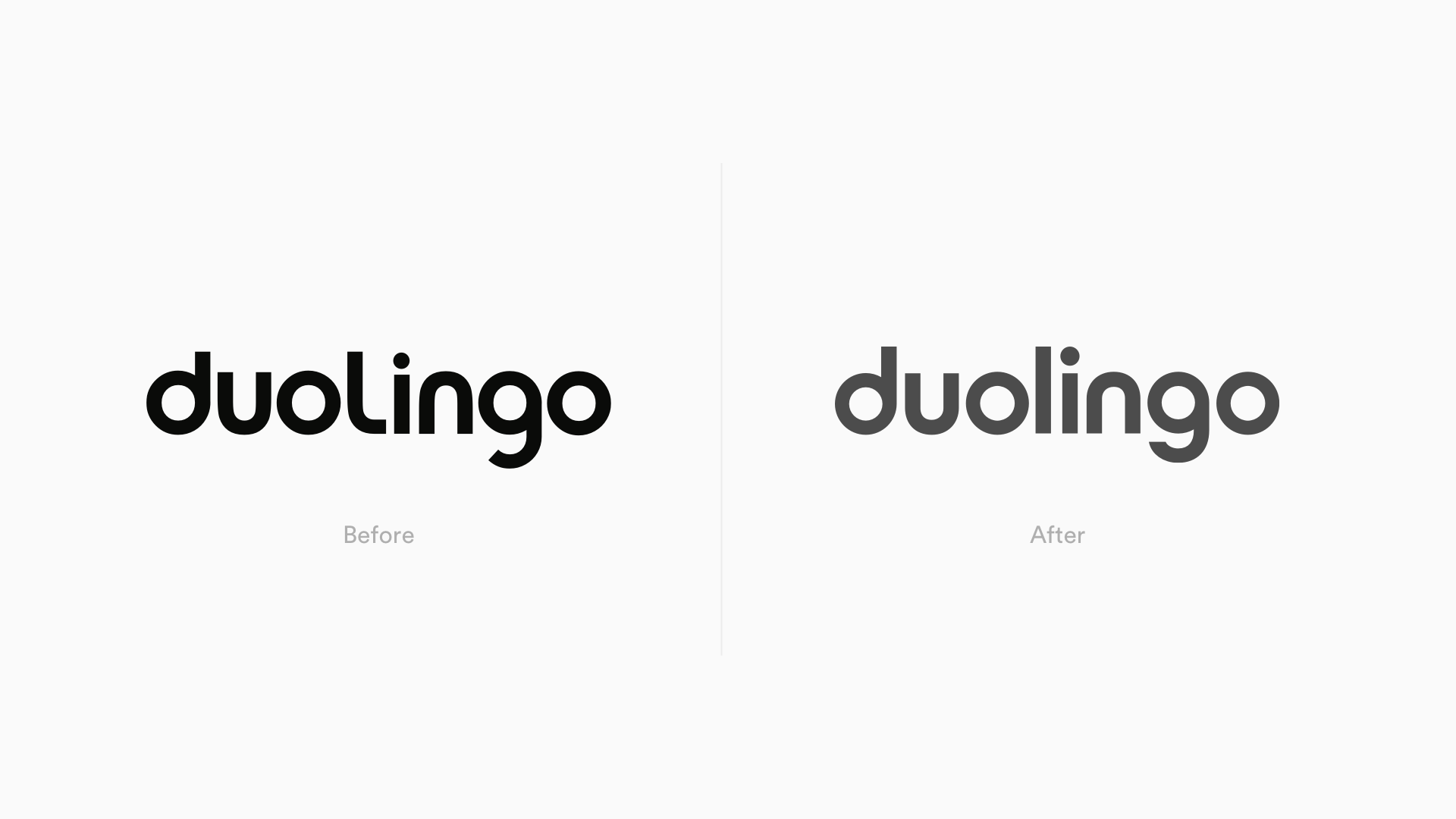 New Duolingo Logo Rebrand Before & After Johnson Banks