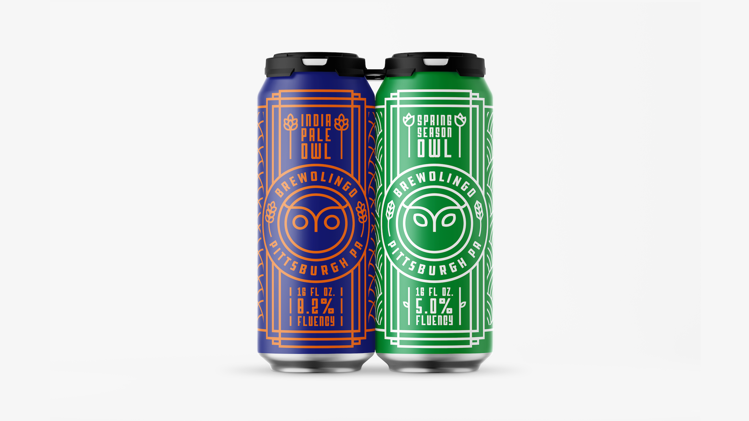 Brewolingo Four Pack Cans