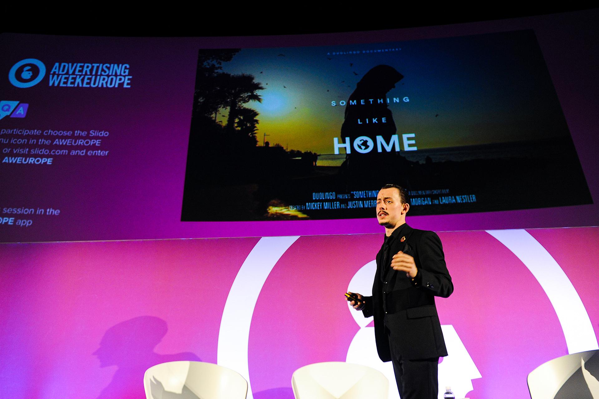 Jack Morgan speaking at Advertising Week Europe