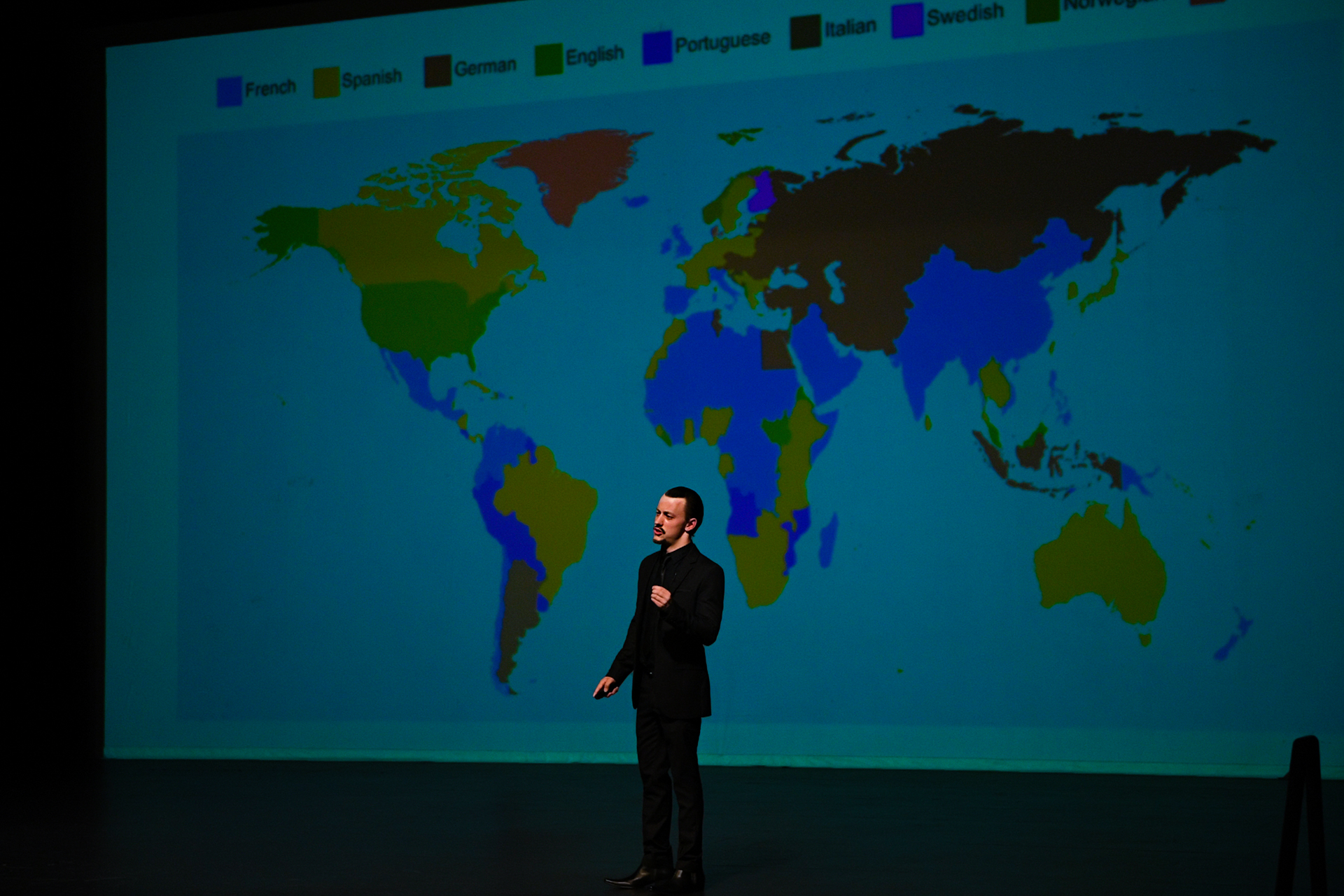 Jack Morgan gives a talk in 2018