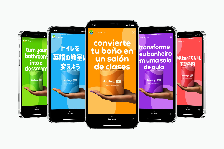 Duolingo Roll Instagram Stories